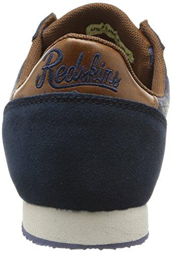 Redskins Discor - Zapatillas de Deporte de canvas hombre azul - Bleu (Marine/Marron)