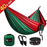KAMOTA Camping Hammock, Outfitters Lightweight Nylon Portable Hammock Parachute Double Hammock For Backpacking Camping Travel Beach Yard 118''(L) x 78''(W)