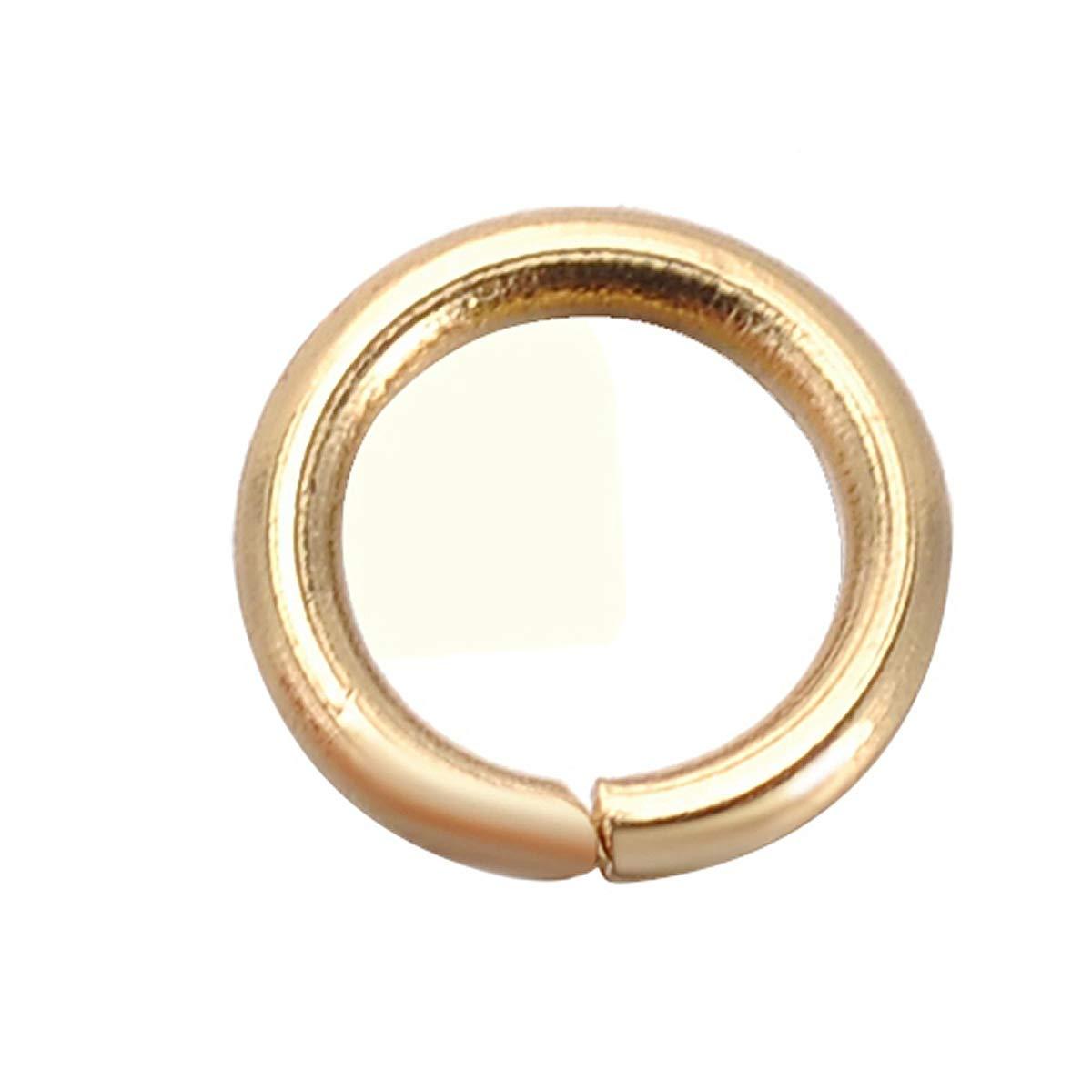 4mmx0.7mm Shengyaju Lot de 30 anneaux ouverts en acier inoxydable plaqu/é or 4 mm Acier inoxydable