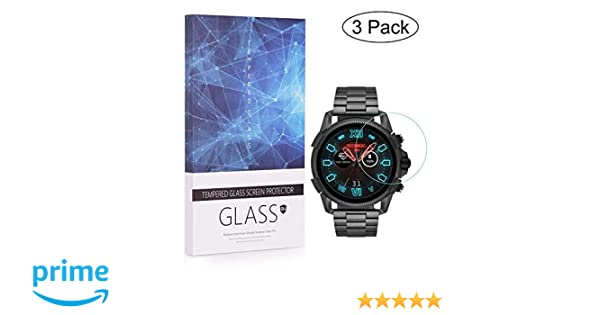 BECEMURU Protector de Pantalla Diesel Full Guard 2.5 Touchscreen, 9H Protector de Pantalla de Vidrio Templado de Cobertura Completa para Smartwatch ...