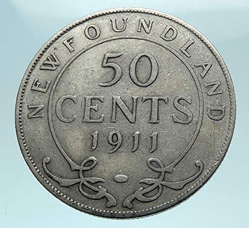 1911 unknown 1911 CANADA Newfoundland UK King George V Genuine coin Good Uncertified (Newfoundland Coin)