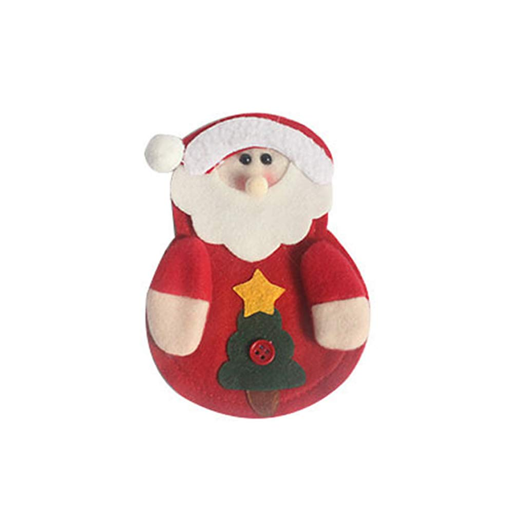 ZX101 Lovely Santa Claus Snowman Deer Tableware Holder Pouch Bag Christmas Decor Santa Claus