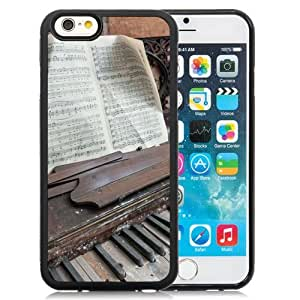 6 Phone cases, Piano Music Light Black iPhone 6 4.7 inch TPU cell phone case