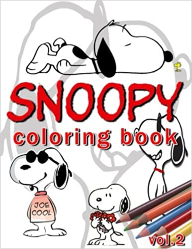 Amazon.com: snoopy coloring book vol.2 : coloring book: stress less ...