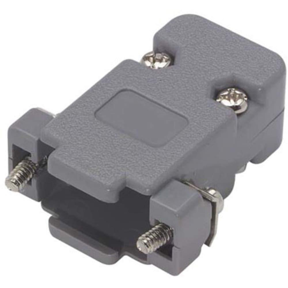 Assembled D-Sub Hood Kit; DB9/HD15 GrayPlastic, Pack of 20