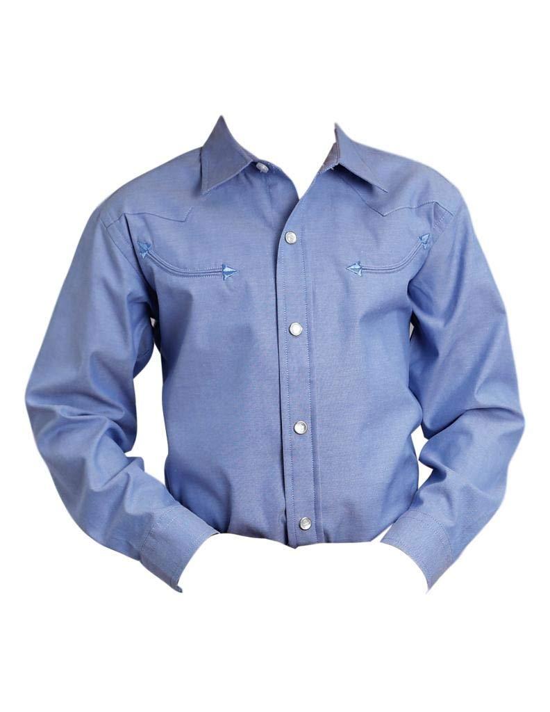 Stetson Western Shirt Boys L/S Snap XL Blue 11-030-0465-0023 BU