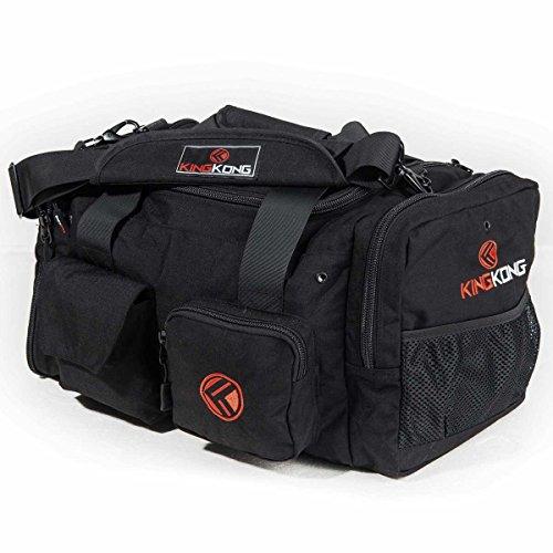 "King Kong Junior Kong Original Nylon Gym Bag - Heavy Duty and Water-Resistant Duffle Bag - Military Spec Nylon- Heavy Duty Steel Buckles - 18"" x 11"" x 11"" - Black"