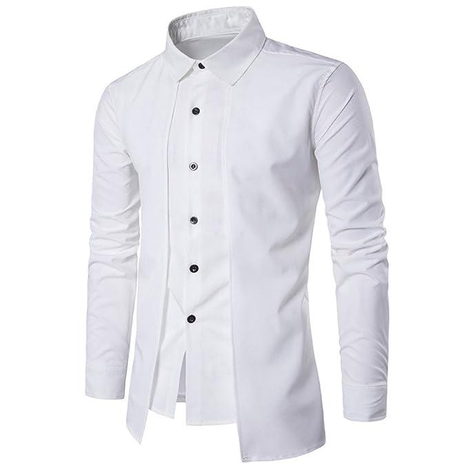 fe13ba7510df Bcfuda Uomo Camicia Felpa Maglietta Maglietta Elegante di Lusso da Lavoro  Formale Manica Lunga Casual