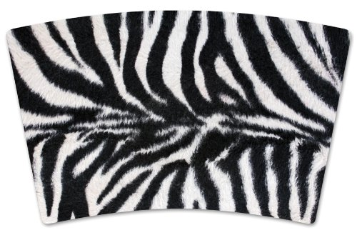 Mugzie MAX Faux Zebra Fur 20-Ounce Stainless Steel Travel Mug with Insulated Wetsuit Cover
