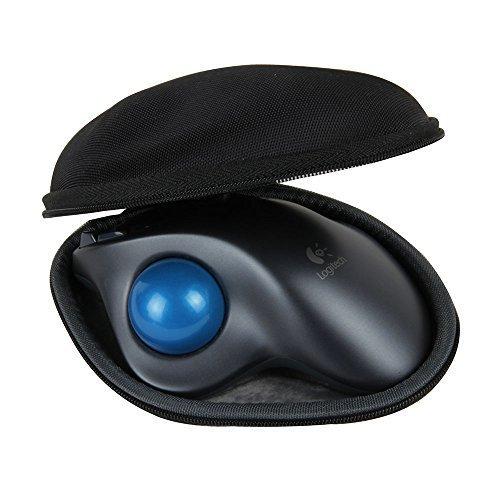 Hermitshell Travel Hart EVA Lagerung Tasche Schutz hülle Etui Tragetasche Beutel Compact Größen und karabiner für Logitech Mouse Maus M570 Wireless Trackball 910-001882
