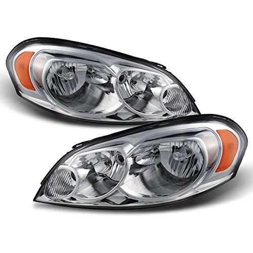 Chevy Impala/Monte Carlo OE Replacement Chrome Bezel Headlights Driver/Passenger Head Lamps Pair (Chevy Headlight Bezels)
