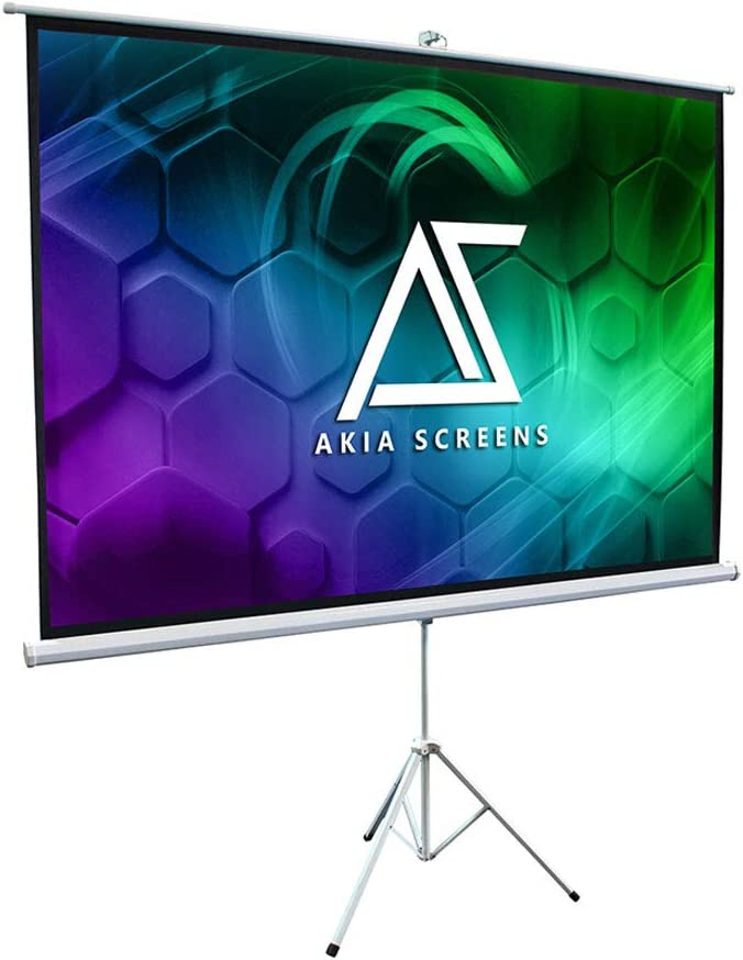 """100/"""" 16:9 3D 4K Pull Up Projector Projection Screen HD Movies with Stand Tripod"""
