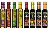 Mantova 8 pc. Set of Oil and Vinegar ~ 8.5 oz. Bottles