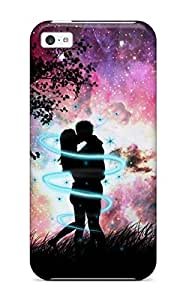 Cute High Quality Iphone 5c Beautiful Couples In Love Moon Case