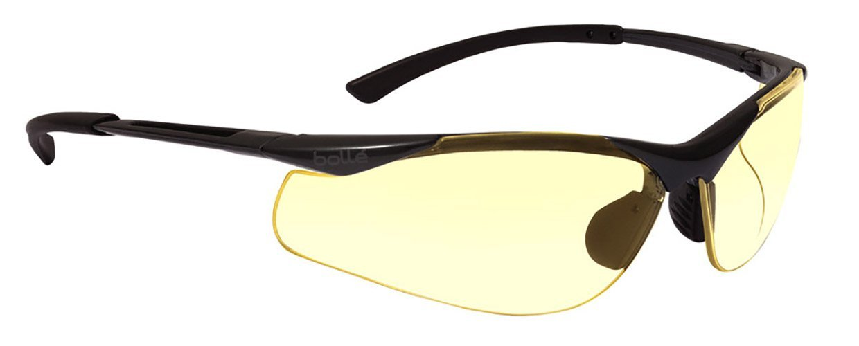 7f99901b7e3 Bollé Safety 253-CT-40046 Contour Safety Eyewear with Semi-Rimless Nylon  Frame and Yellow Tint Anti-Fog Lens - Safety Glasses - Amazon.com