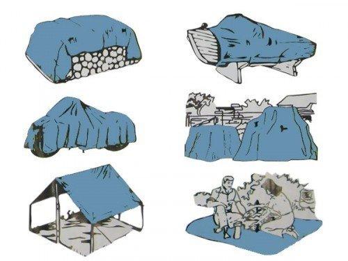 Abdeckplane Gewebeplane Schutz Plane 5 x 8 m 90g//m/²