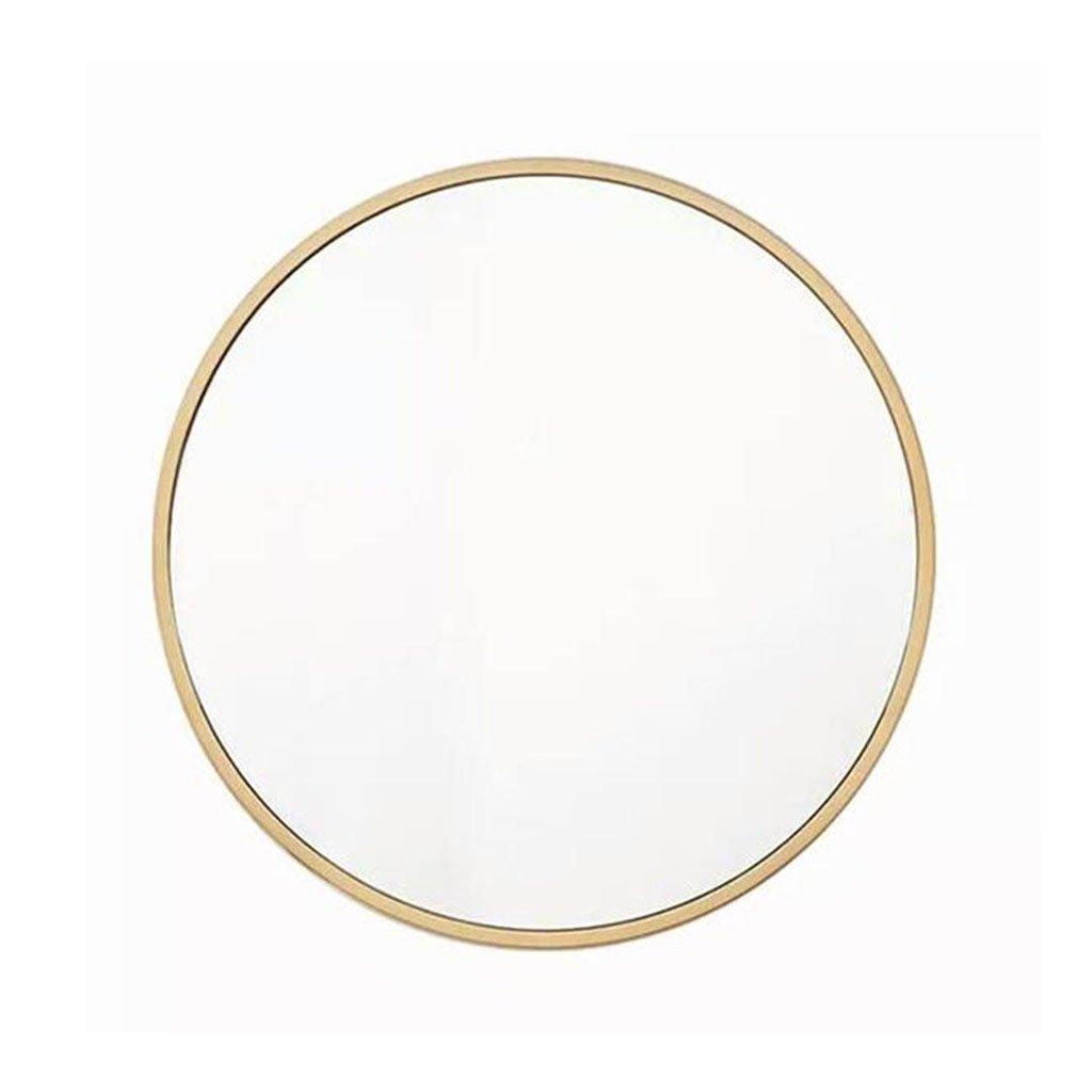 Bloomy Home- Nordique Moderne Minimaliste En Fer Forgé Or Miroir De Coiffure Designer Miroir Rond Miroir De Salle De Bains Miroir De Maquillage Miroir Miroir Décoratif (taille : 40cm)