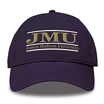 The Game NCAA James Madison Dukes Bar Design Classic Relaxed Twill Hat, Purple, Adjustable by MV CORP. INC