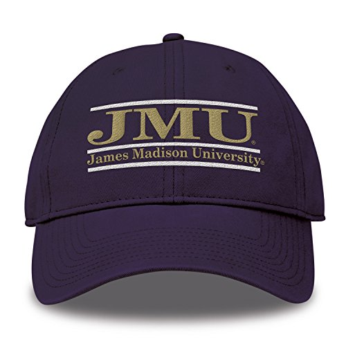 (The Game NCAA James Madison Dukes Bar Design Twill Hat, Purple, Adjustable)