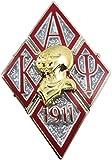 Cultural Exchange Kappa Alpha Psi Diamond 3D Helmet Armor Lapel Pin [Silver - 1.25'']
