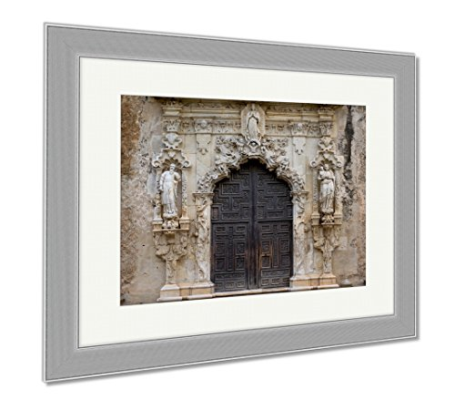 Ashley Framed Prints Entrance Of Mission San Jose, Wall Art Home Decoration, Color, 34x40 (frame size), Silver Frame, AG6535204 by Ashley Framed Prints