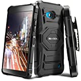 Evocel Microsoft Lumia 640 Case - Dual Layer [New Generation] Rugged Holster Case with Kickstand and Belt Swivel Clip Nokia Lumia 640 - Retail Packaging, Black