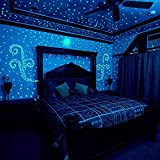 VT BigHome 100pcs/set Glow in The Dark Stars Luminous Stickers Glowing Toys Novel for Kids Children Light Stars Fluorescent Party Glow Toy