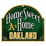 "MLB Oakland Athletics 10-by-11 Inch Wood ""Home Sweet Home"" Sign"