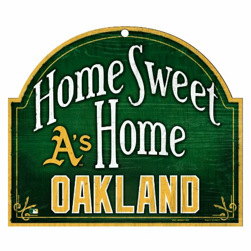Oakland Athletics Wood Sign - MLB Oakland Athletics 10-by-11 Inch Wood