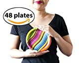 Mexican Fiesta Colorful Small Plates, 48 Count. for Mexico Themed Parties! Designed to Look Like Traditional Serape Blankets.