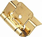 Semi-Concealed Hinge, Full Wrap, 2-Pack (Set of 10) (Antique Brass)