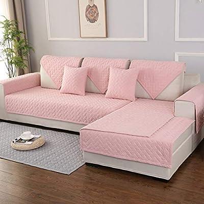 Amazon.com: AFAHXX Quilted Cotton Plush Non-slip Sofa Cover ...