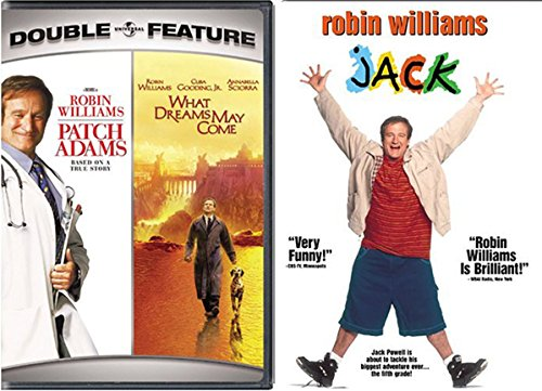 Robin Williams Jack & Patch Adams Set [DVD] 2 Pack What Dreams May Come Triple Feature Movie Set