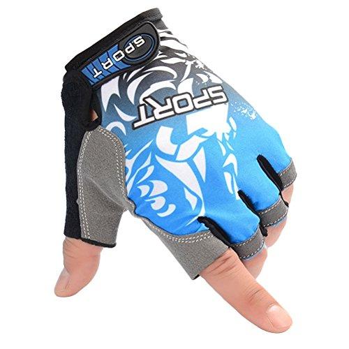 VORCOOL UV Protection Fishing Fingerless Gloves Anti-slip Fishing Gloves for Cycling Climbing Fishing Riding Kayaking Size L