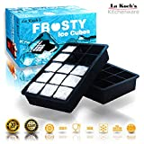 Ice Cube Tray Silicone Mold Maker Large Square 1.5 inch Ice Cubes  Bourbon WhiskeyCocktail & other drinks Certified✔️BPA Free✔️FDA Approved✔️Ethical Choice✔️Dishwasher & Oven Safe