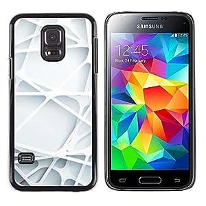 3D Arte Líneas Web plástico blanco limpio - Metal de aluminio y de plástico duro Caja del teléfono - Negro - Samsung Galaxy S5 Mini (Not S5), SM-G800