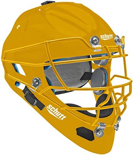 Schutt Sports Air MAXX Hockey-Type Catcher's Helmet with Steel Faceguard Gold – DiZiSports Store