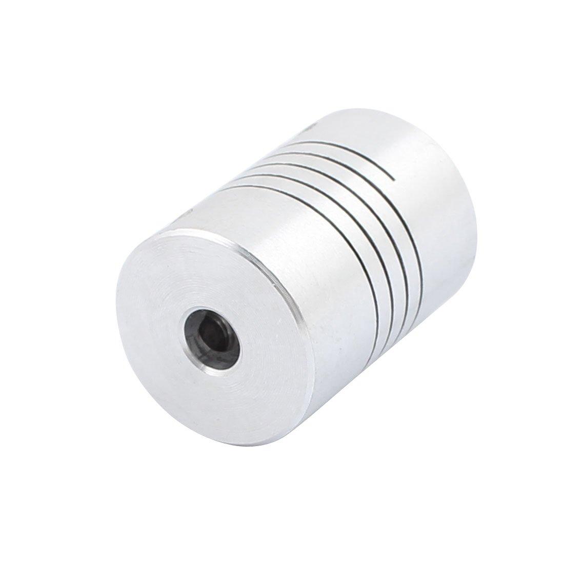 sourcingmap 4mm to 4mm Shaft Coupling 25mm Length 18mm Diameter Stepper Motor Coupler Aluminum Alloy Joint Connector for 3D Printer CNC Machine DIY Encoder