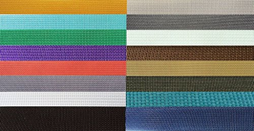 17337 Nylon Backpack Webbing Available in 4 Widths, 6 lot sizes, & 29 colors.