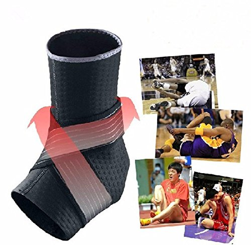 [L Size Sports Ankle Support Guard Protector Basketball Ankle Brace Support Adjustable Pads Protection Elastic Wraps Brace Guard Football Badminton Taekwondo MMA Training PMMA UFC] (Halloween Costume Ball Nyc)