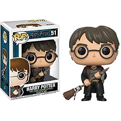 Funko Pop Harry Potter with Firebolt Collectible Figure, Multicolor: Toys & Games