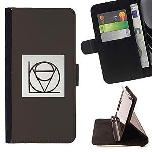 Momo Phone Case / Flip Funda de Cuero Case Cover - Amor estilística Caligrafía gris minimalista - LG G4c Curve H522Y (G4 MINI), NOT FOR LG G4