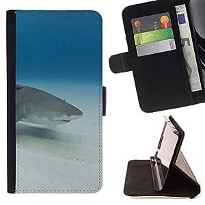 Momo Phone Case / Flip Funda de Cuero Case Cover - Sand Shark Underwater Blue Ocean Mar - Sony Xperia Z5 Compact Z5 Mini (Not for Normal Z5)