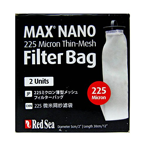 Red Sea Max Nano Replacement 225 Micron Thin-Mesh Filter Bag, 2 ()