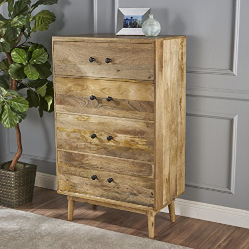 Halston Natural Finished Solid Mango Wood Chest of (Solid Mango Wood)