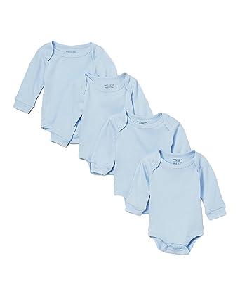 Amazon Com Sweet Soft Baby Basics Unisex 4 Pack Bodysuits Solid