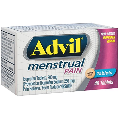 Advil Menstrual (40 Count) Pain Reliever/Fever Reducer Tablet, 200mg Ibuprofen Sodium, Menstrual Cramps, Temporary Pain Relief by Advil