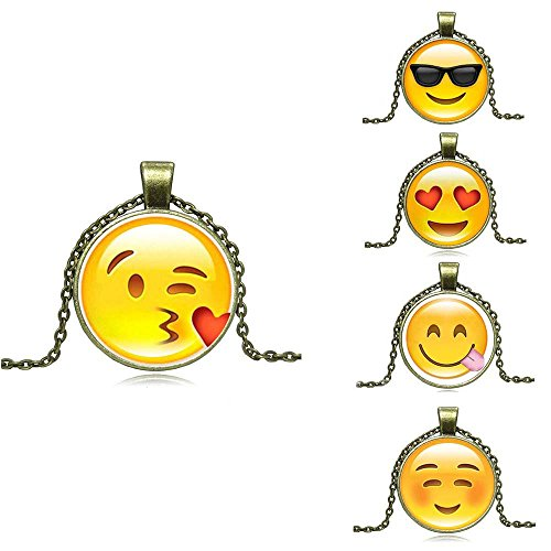 Set Emoticon Face Pendants - Pack of 5