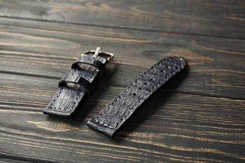 Navy alligator leather iWatch - Store Bans