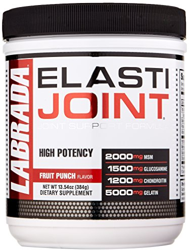 Labrada Elastijoint - Joint Support Powder, All In One Drink Mix with Glucosamine Chondroitin, MSM and Collagen, Fruit Punch, 30 Servings (Drink Mix Glucosamine)